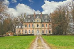 The old mansion in the park. france Stock Photos