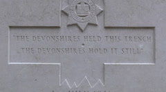 The Devonshire Cemetery, Mametz, Somme, France. Stock Footage