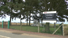 Gueudecourt (Canadian) Memorial, Somme, France. Stock Footage