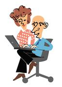 Manager and secretary Stock Illustration