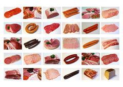 meat collection - stock illustration