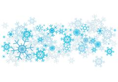 Snow flakes background Stock Illustration