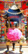 incense burning - stock photo