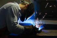 Stock Photo of welding steel and sparks