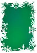Green snowflakes background Stock Illustration