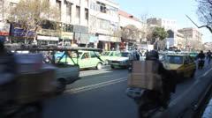 Road Traffic  in Tehran - stock footage
