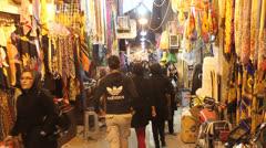 Stock Video Footage of People in bazaar