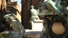 Fountain of Neptune, Florence - stock footage