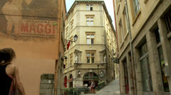 Old town - Lyon France Stock Footage