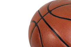 basketball on a white background - stock photo