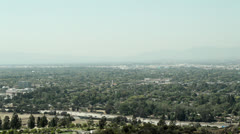 California Highway with smog, 134 Freeway pollution - stock footage