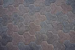 brick walk triangular close - stock photo
