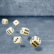 Throwing dices Stock Photos