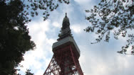 Stock Video Footage of Tokyo tower,Cloud6
