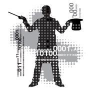 Virtual magician Stock Illustration