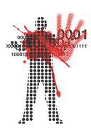 Victim of violence Stock Illustration