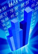 Economy background Stock Illustration