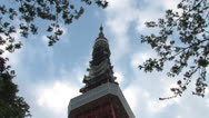 Stock Video Footage of Tokyo tower,Cloud5
