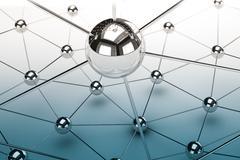 network - stock illustration