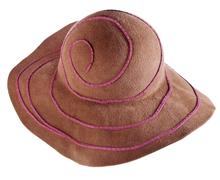 Brown broad-brim felt hat Stock Photos