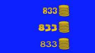Stock Video Footage of Video Game High Score Gold Coins
