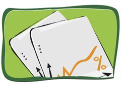 Sheets - stock illustration