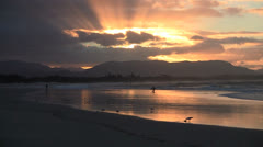 Byron Bay Australia winter sunset. Stock Footage
