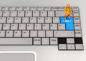 Stock Illustration of keyboard manikin i like