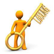 Golden key loesung Stock Illustration