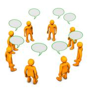 Stock Illustration of discussion