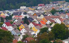 Colorful roofs #2 Stock Photos