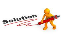 Solution manikin ballpen Stock Illustration