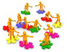 Teamwork business company Stock Illustration