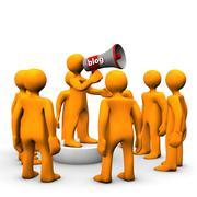 megafon blog group - stock illustration