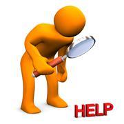 Small help Stock Illustration