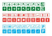 Stock Illustration of Navigation signs set