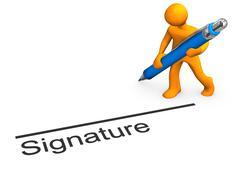 manikin signature - stock illustration