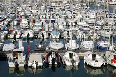 Port of Royan in France - stock photo