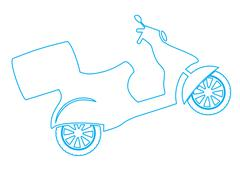Vector Scooter Stock Illustration