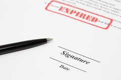 sign document - stock photo