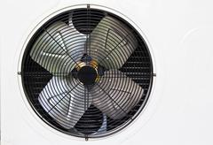 Heating and ac unit used in a residential home Stock Photos