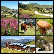 La Plagne in the French Alps - stock photo