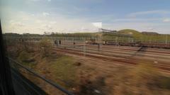 Eurostar in Kent, UK. Stock Footage