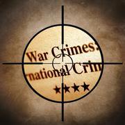 War crimes target Stock Illustration