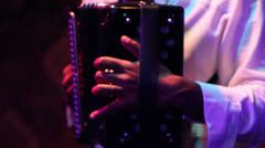 Close up of accordion being played - stock footage