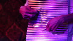 Close shot of washboard being played Stock Footage