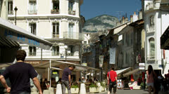 Rue Crois D'or - Chambery France Stock Footage