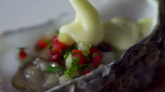 Stock Video Footage seafoods Healthy Eating slow motion - stock footage