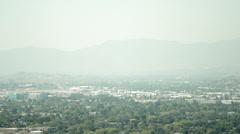 smog, pollution  in California over San Fernando Valley - stock footage