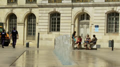 Fountain at Place de la Libération in Dijon France Stock Footage
